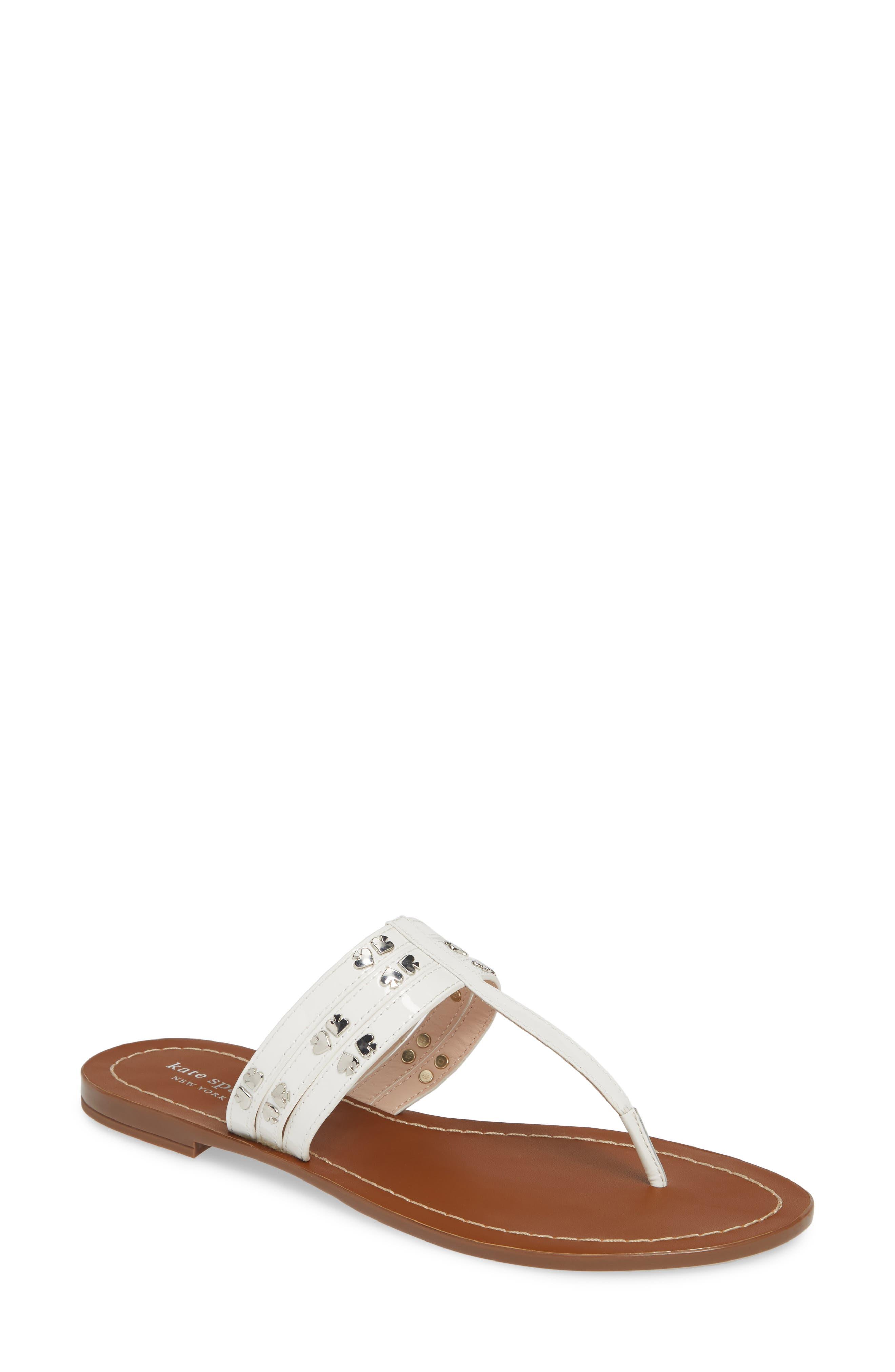 ,                             carol sandal,                             Main thumbnail 1, color,                             WHITE