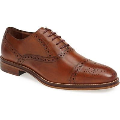 Johnston & Murphy Conard Cap Toe Oxford- Brown