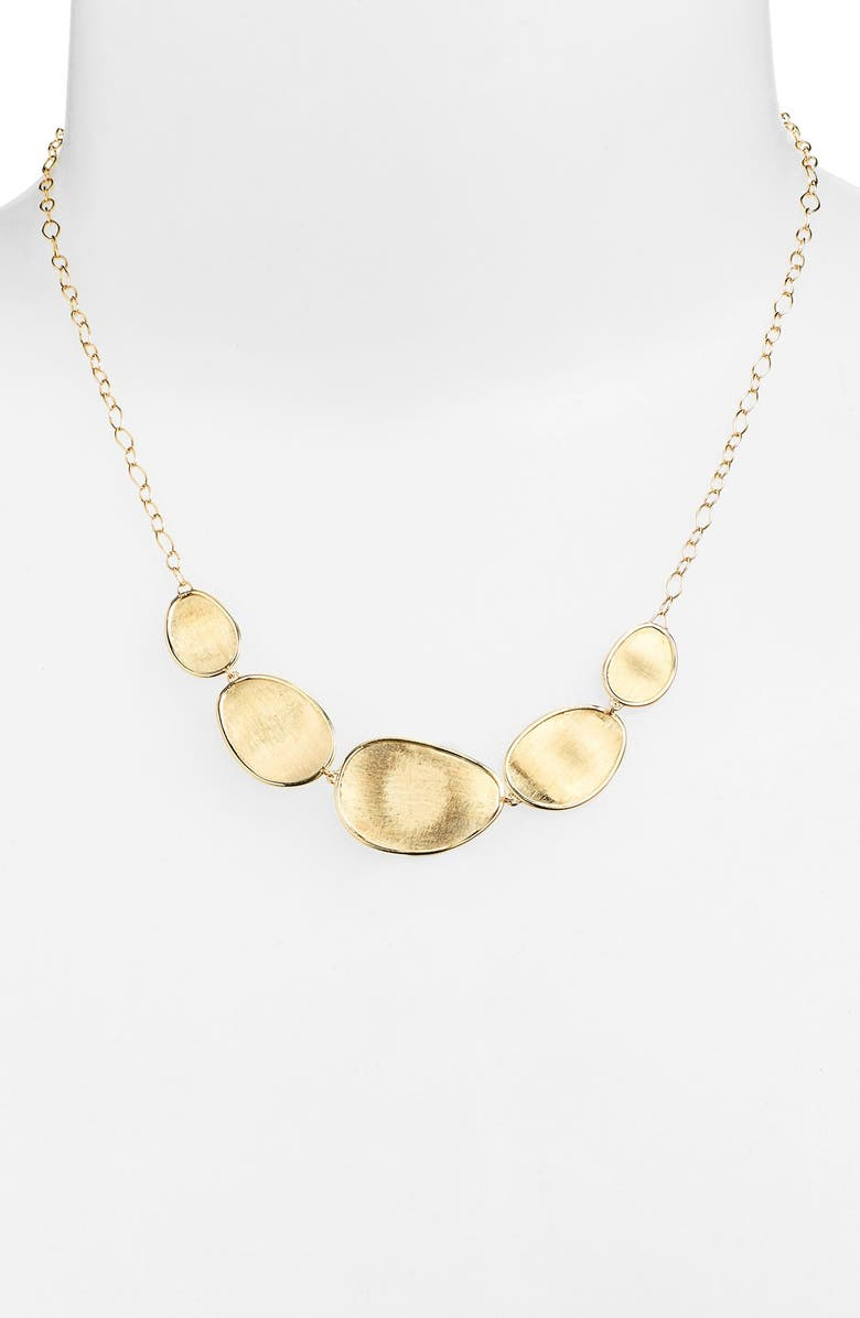 MARCO BICEGO 'Lunaria' Frontal Necklace, Main, color, YELLOW GOLD