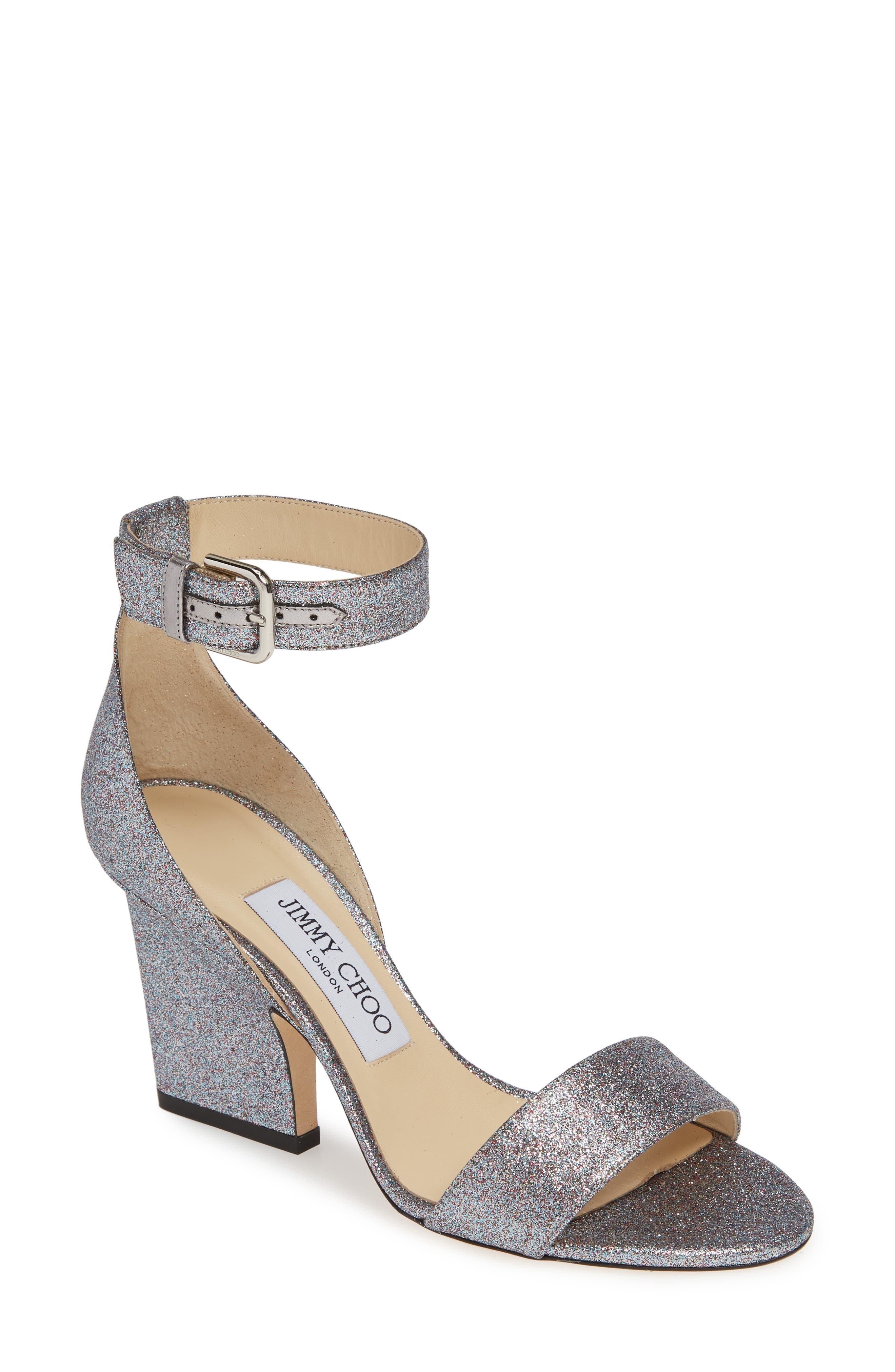 Jimmy Choo Edina Ankle Strap Sandal, Metallic