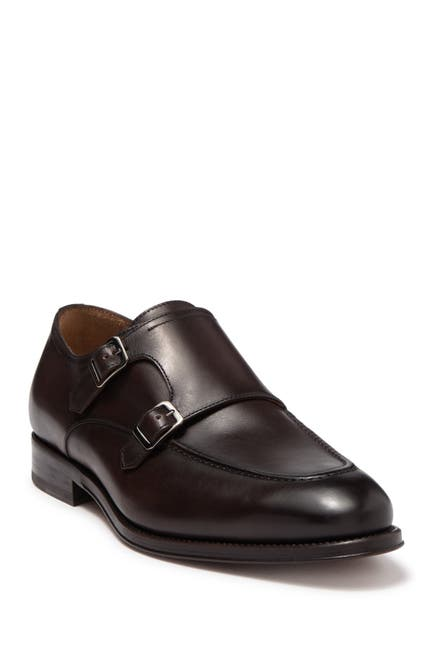 Image of Antonio Maurizi Leather Double Monk Strap Loafer