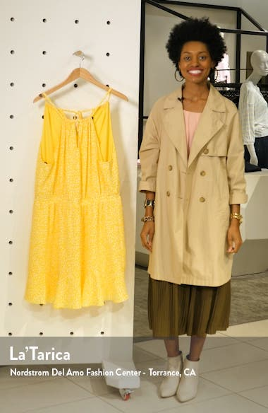 x Living in Yellow Calla Keyhole Halter Neck Dress, sales video thumbnail