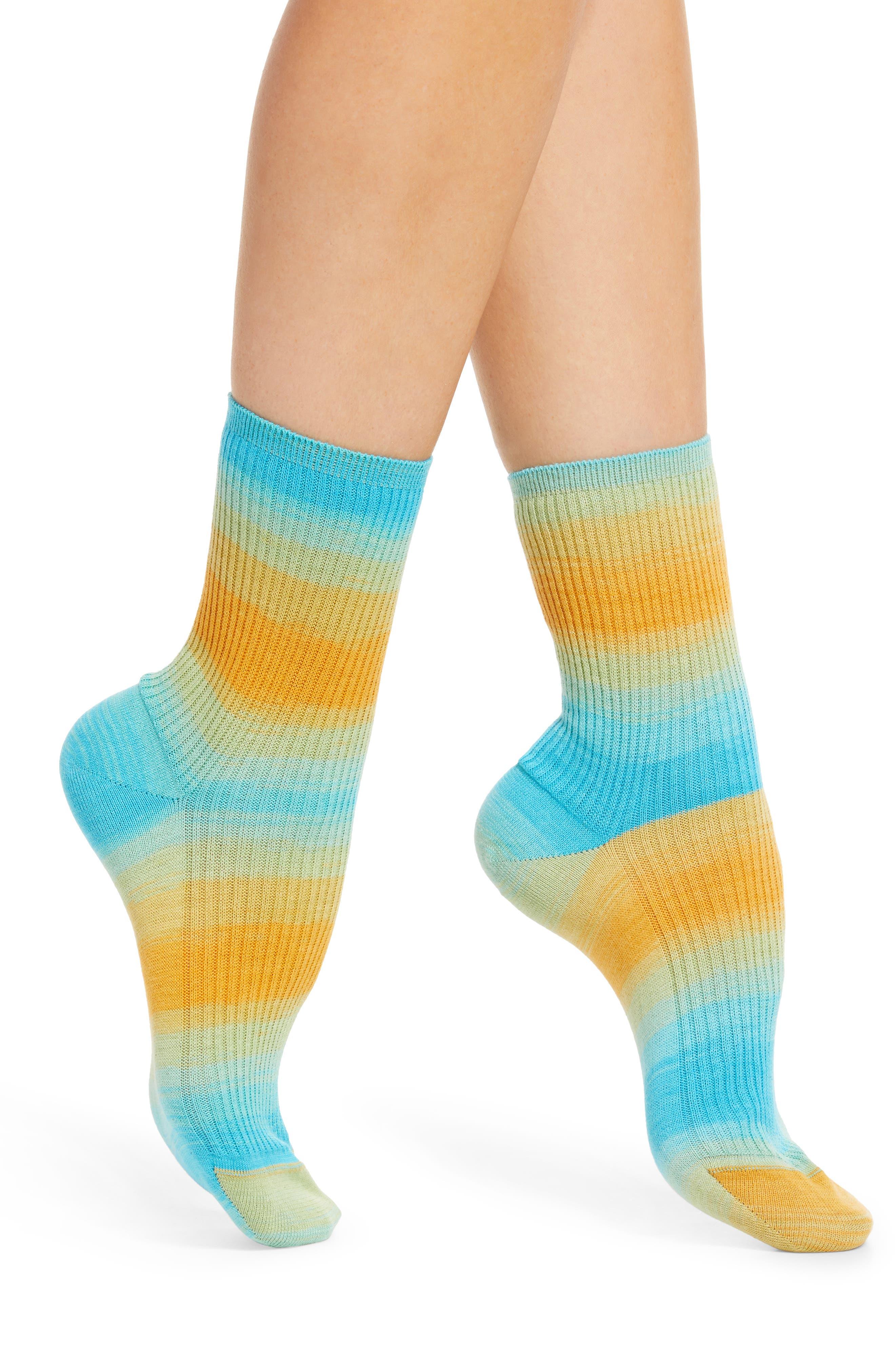 Ombre Cotton Rib Socks