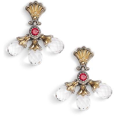 Konstantino Pythia Triple Crystal Drop Earrings