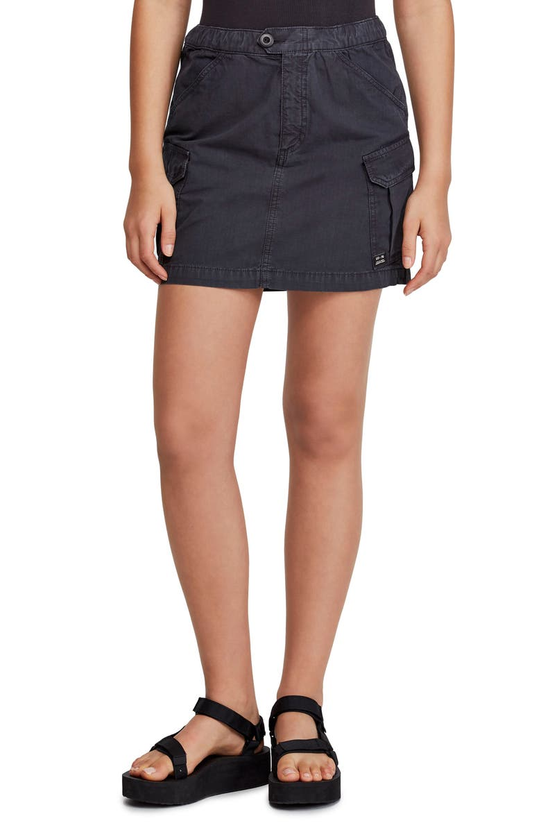 BDG Urban Outfitters Utility Skirt, Main, color, BLACK