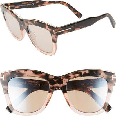 Tom Ford Julie 52Mm Sunglasses - Pink Havana/ Champagne