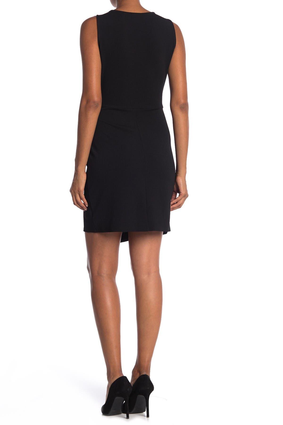 Image of TASH + SOPHIE Sleeveless Wrap Skirt Dress