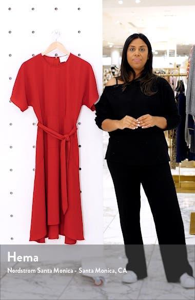 Dolman Sleeve Crepe Midi Dress, sales video thumbnail