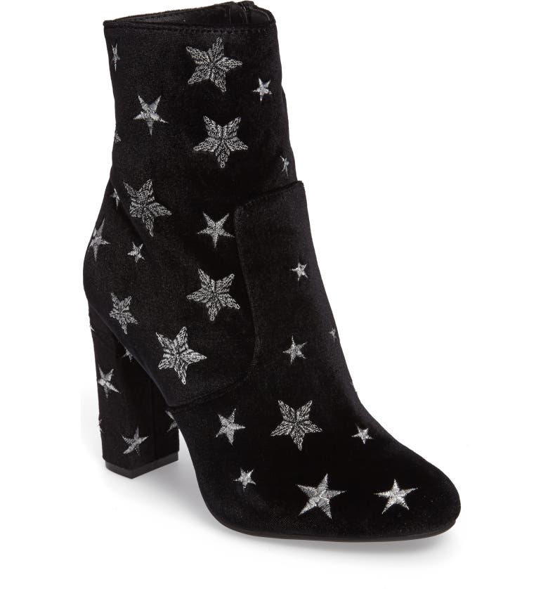 STEVE MADDEN Edit Embroidered Star Bootie, Main, color, 015