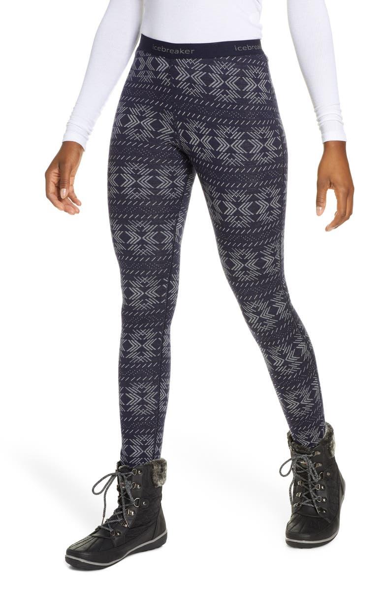 ICEBREAKER 250 Vertex Merino Wool Base Layer Leggings, Main, color, MIDNIGHT NAVY