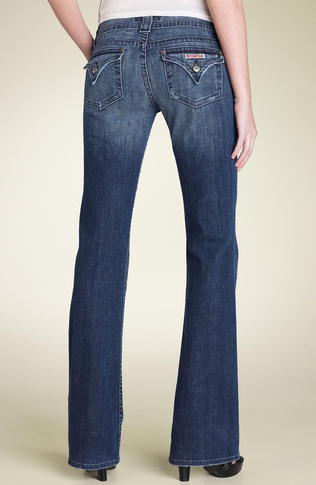,                             Signature Flap Pocket Bootcut Jeans,                             Alternate thumbnail 75, color,                             477