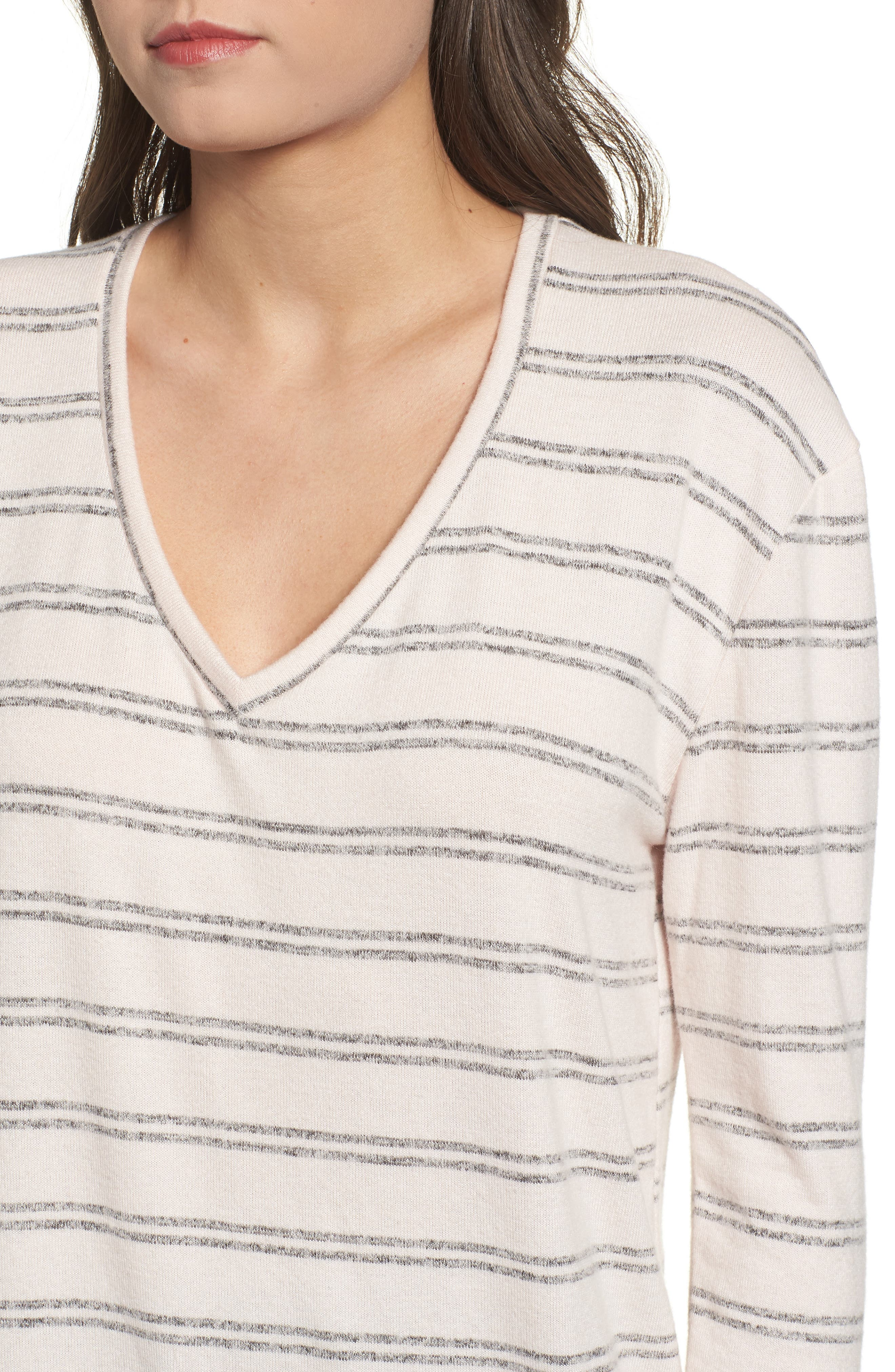,                             Cozy V-Neck Sweater,                             Alternate thumbnail 23, color,                             660