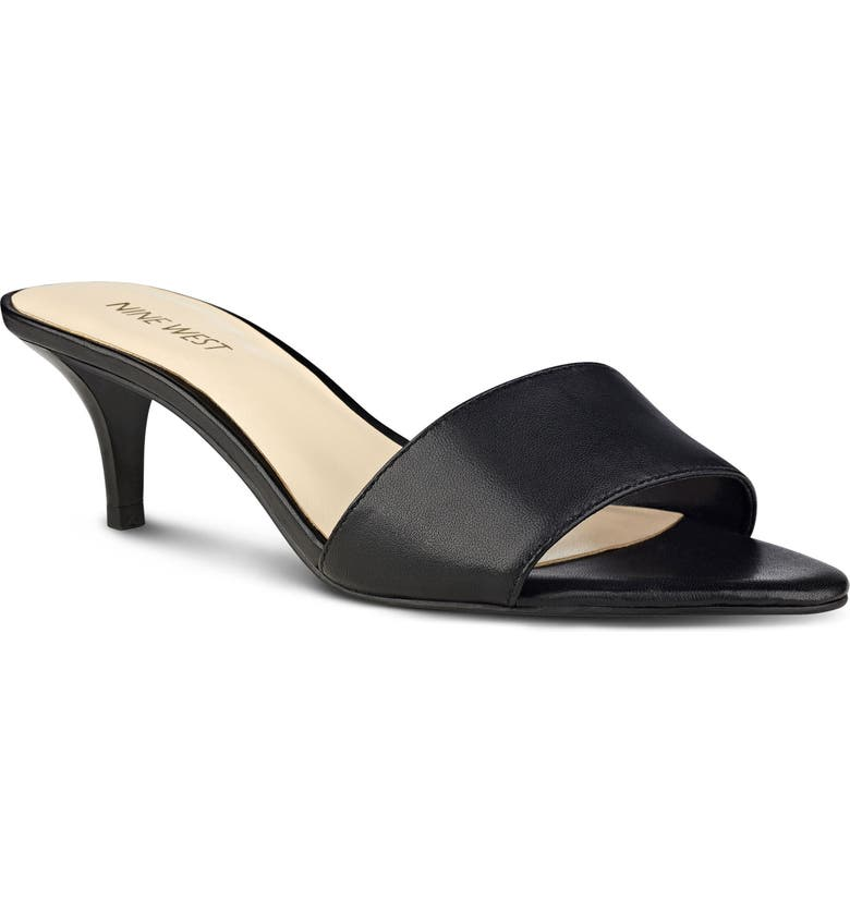 NINE WEST Lynton Sandal, Main, color, BLACK FABRIC