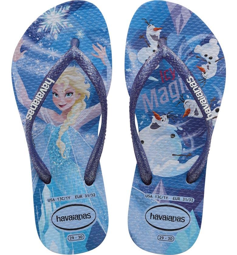 HAVAIANAS Slim Frozen Flip Flop, Main, color, QUIET LILAC