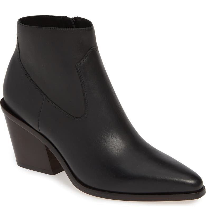 RAG & BONE Razor Western Bootie, Main, color, BLACK
