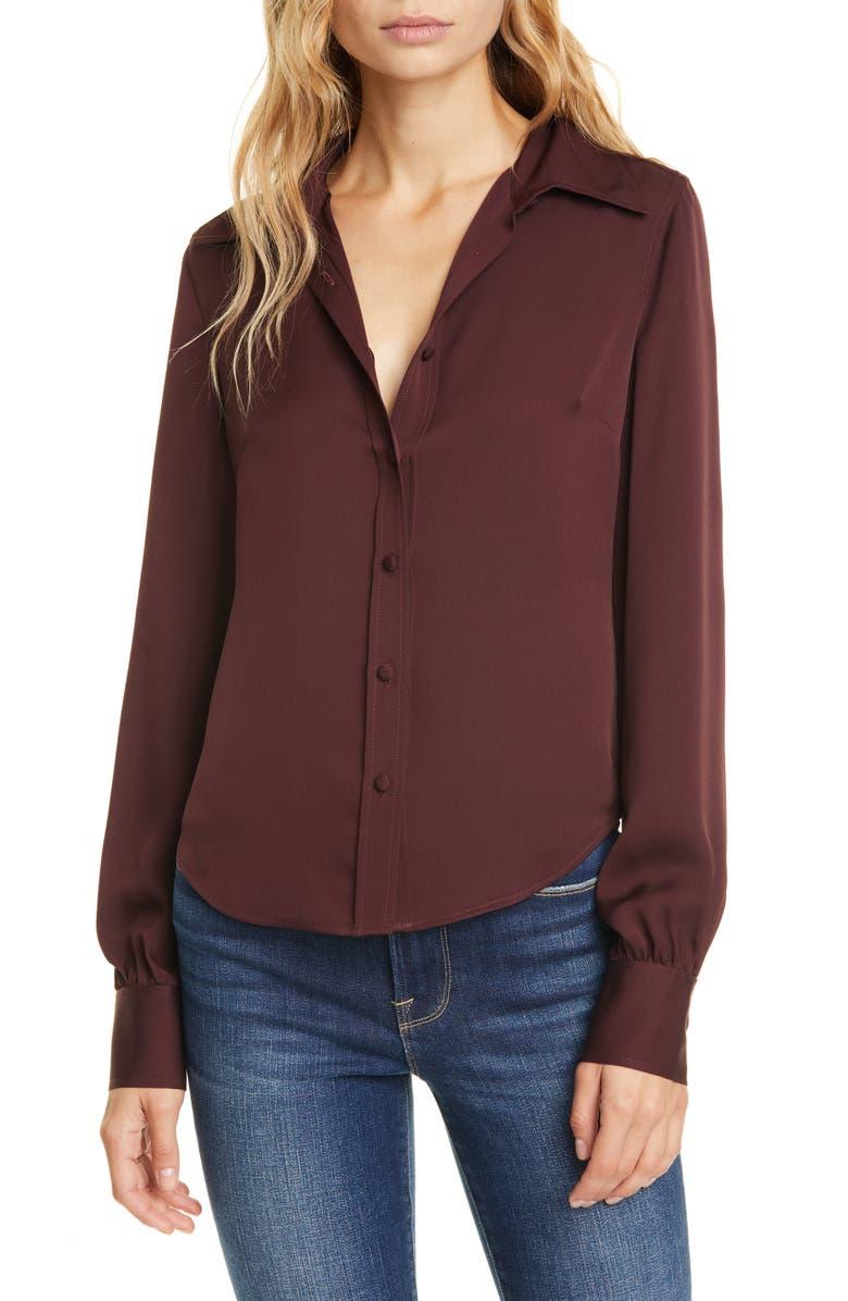 FRAME '70s Shirt, Main, color, BORDEAUX