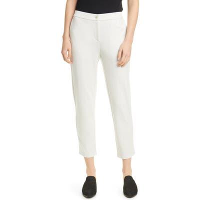 Eileen Fisher Slouchy Tencel Lyocell Blend Ankle Pants, Beige