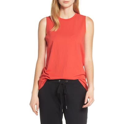 Richer Poorer Muscle Tank, Red