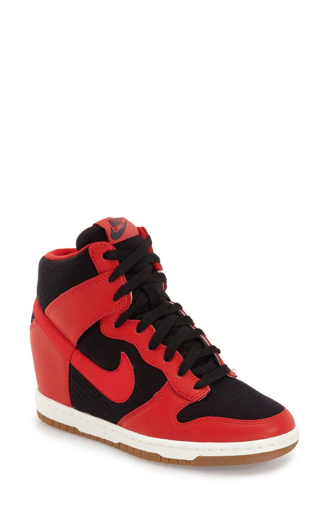 ,                             'Dunk Sky Hi - Essential' Wedge Sneaker,                             Main thumbnail 27, color,                             015