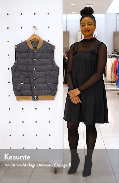 Quilted Wool Blend Vest, sales video thumbnail