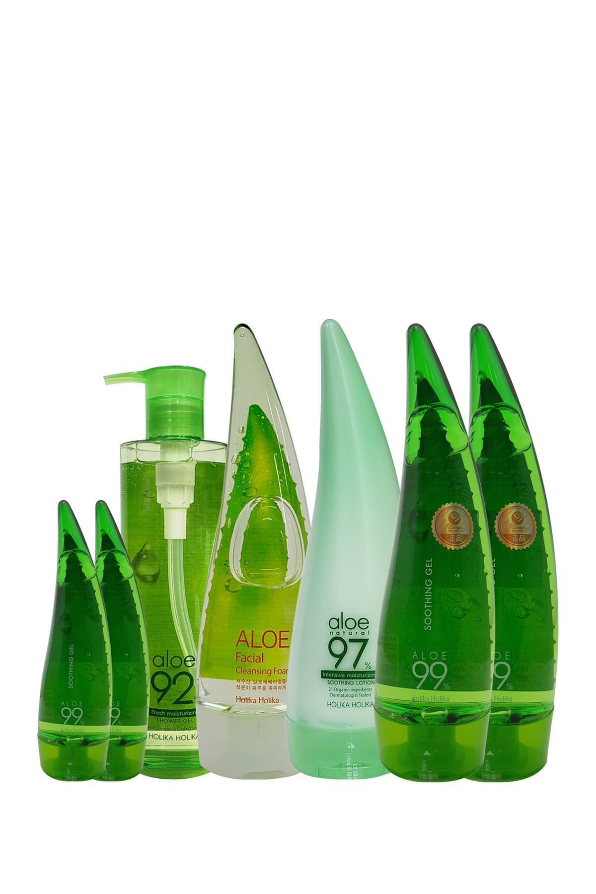 Image of Holika Holika Aloe 7-Piece Cleansing Collection