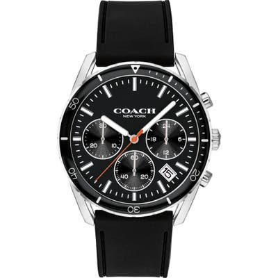 Coach Thompson Sport Chronograph Rubber Strap Watch, 41Mm