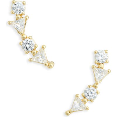 Nordstrom Cubic Zirconia Triangle Ear Crawlers
