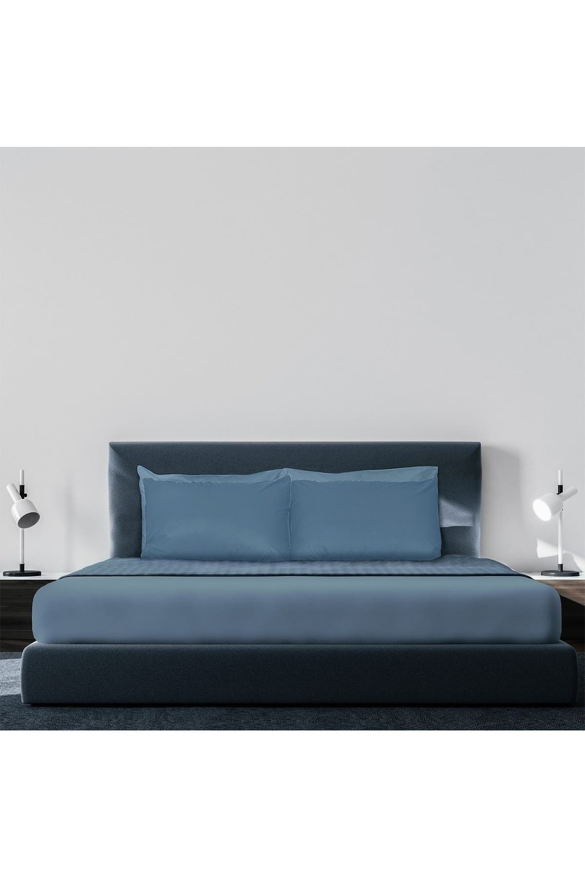 Image of Pillow Guy Luxe Soft & Smooth Tencel 6-Piece Sheet Set - Cadet Blue - Full Size