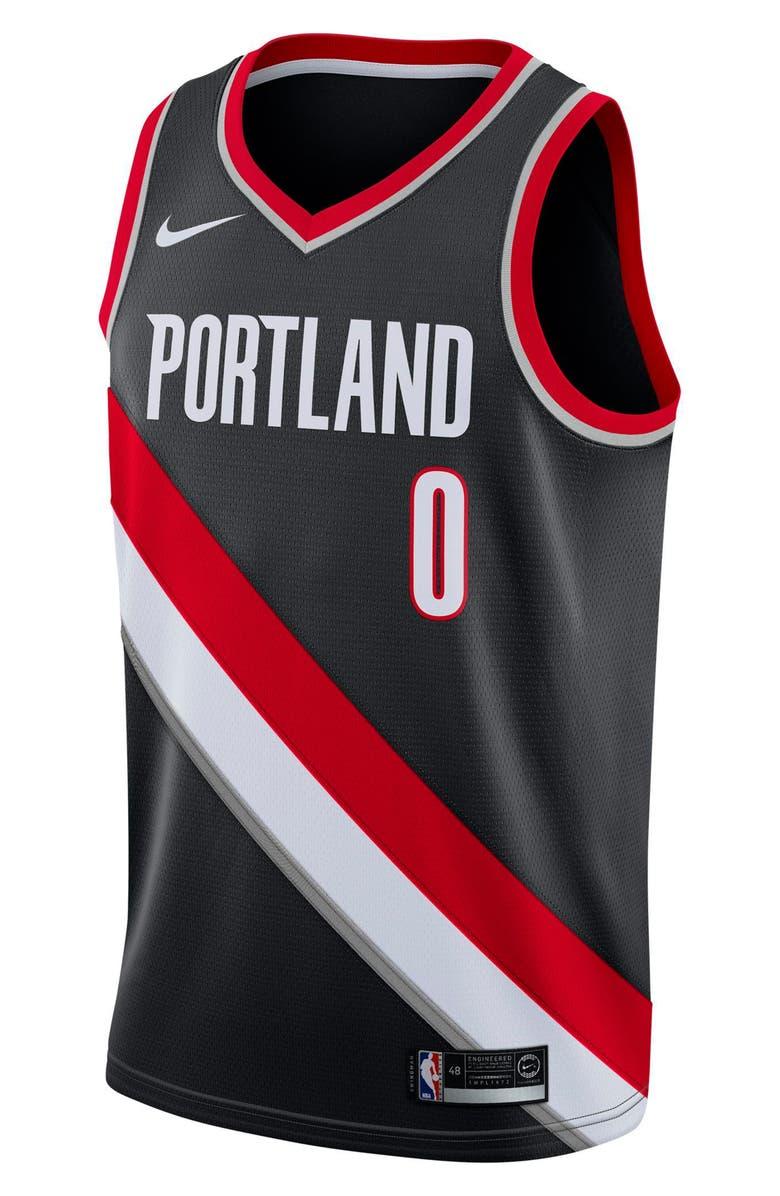NIKE Portland Trail Blazers Icon Edition Swingman Men's NBA Jersey, Main, color, 010