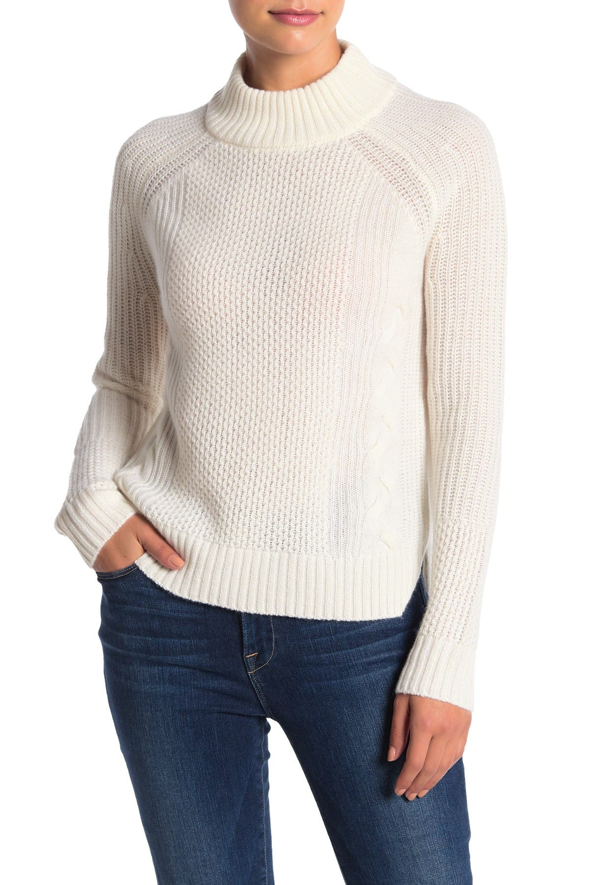 Image of GRIFFEN CASHMERE Cable Knit Cashmere Pullover