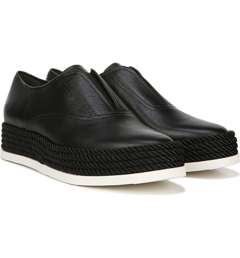 VIA SPIGA Berta Slip-On Sneaker, Main, color, BLACK LEATHER