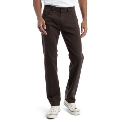 Mavi Jeans Zach Straight Leg Twill Pants, Brown