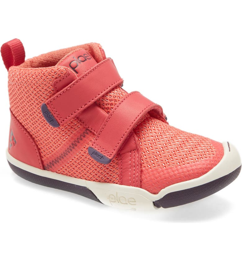 PLAE Leo High Top Sneaker, Main, color, LIVING CORAL