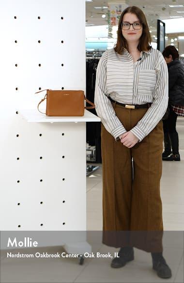 Danii Double Zip Leather Crossbody, sales video thumbnail