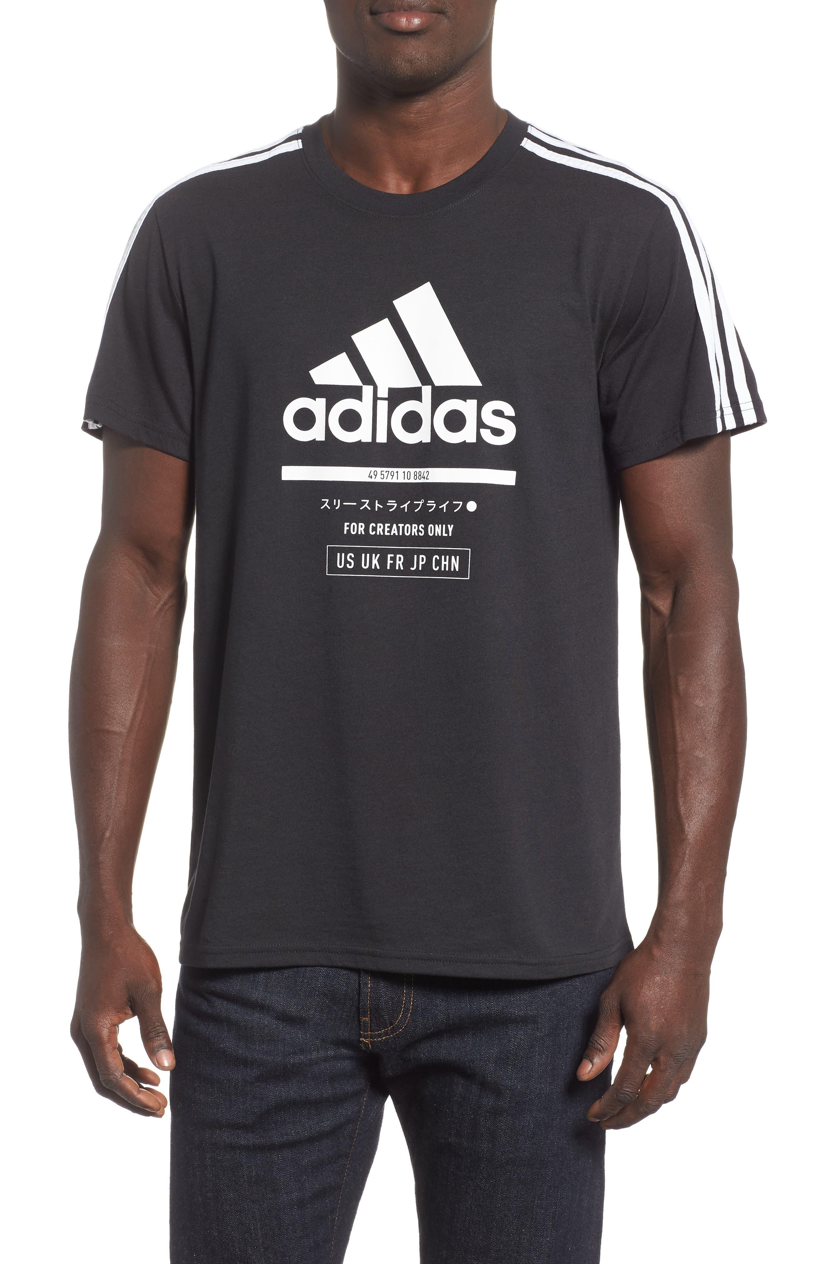 Adidas Classic International Regular Fit T-Shirt, Black