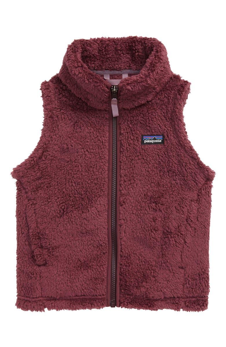 PATAGONIA Los Gatos Fuzzy Fleece Vest, Main, color, LIT LIGHT BALSAMIC
