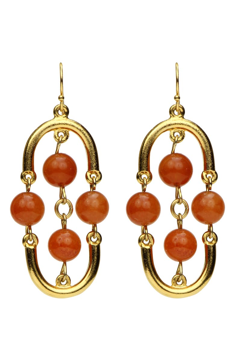 BEN-AMUN Small Drop Earrings, Main, color, GOLD