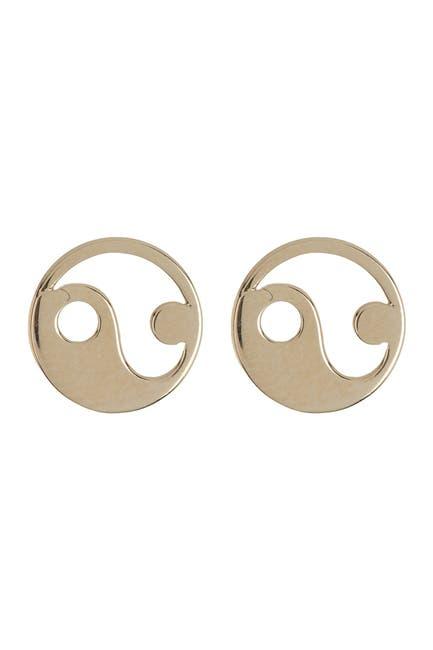 Image of Candela 14K Yellow Gold Yin Yang Stud Earrings