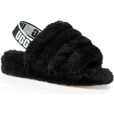 Ugg Fluff Yeah Genuine Shearling Slide, Black