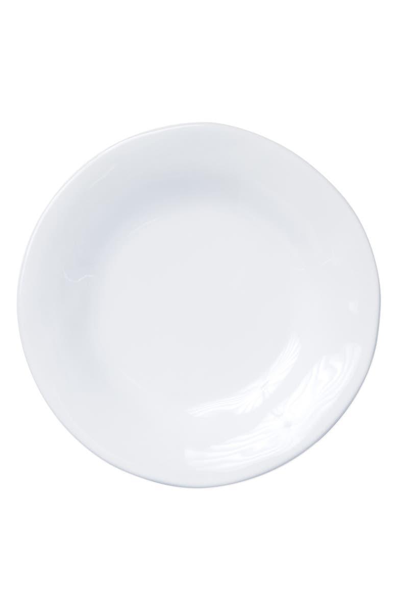 VIETRI Aurora Stoneware Dinner Plate, Main, color, SNOW