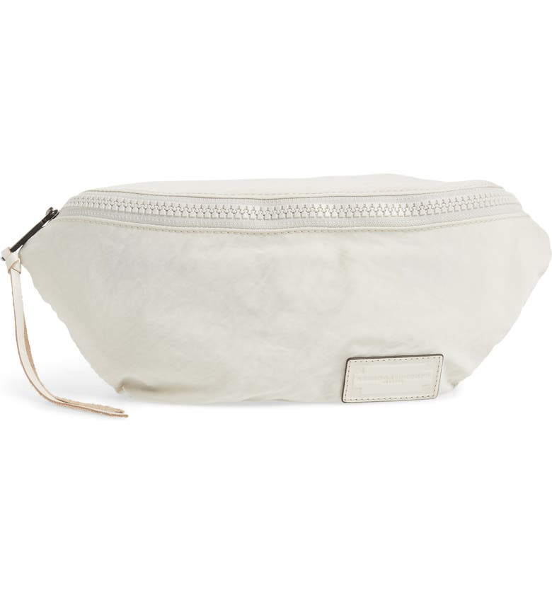 REBECCA MINKOFF Nylon Belt Bag, Main, color, BONE