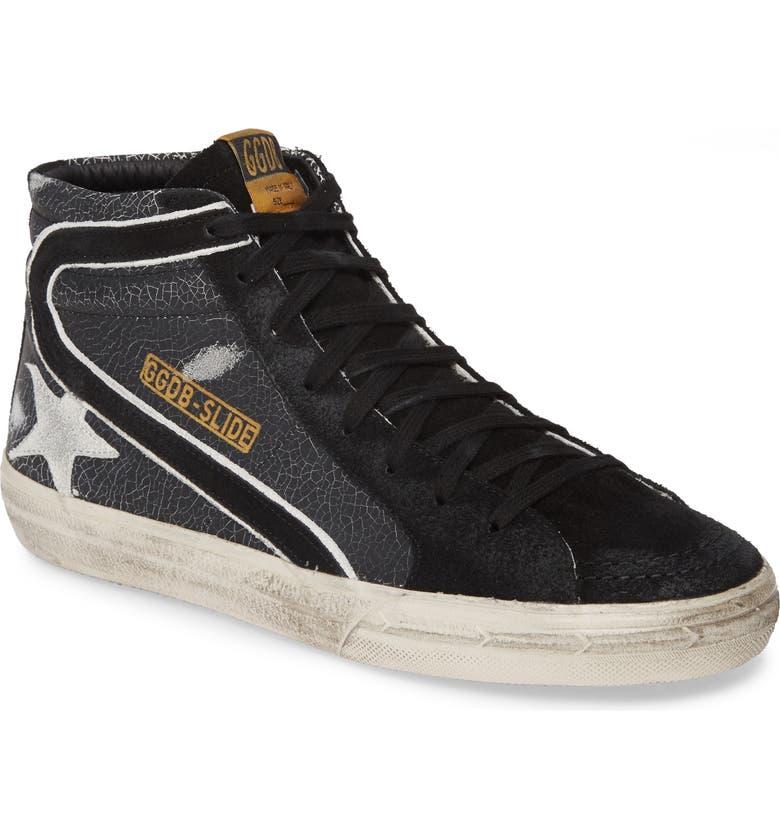 GOLDEN GOOSE 'Slide' Sneaker, Main, color, BLACK CRACK/ WHITE STAR