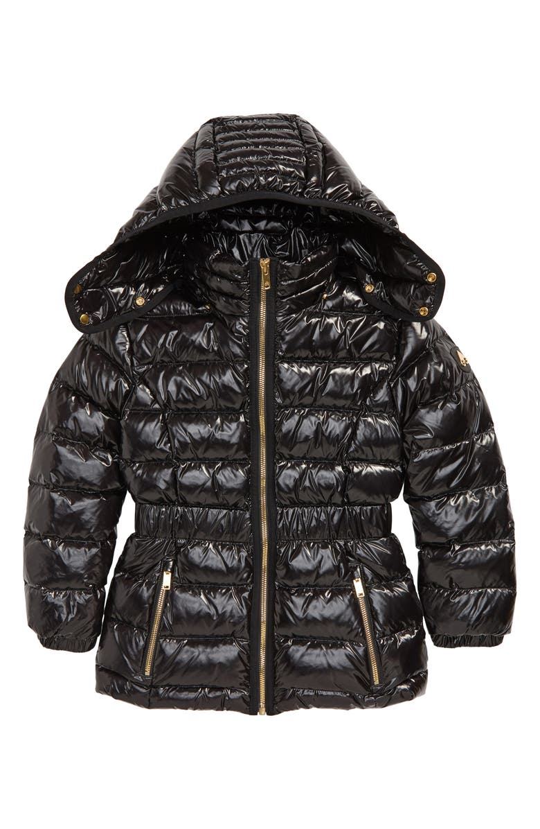 MOOSE KNUCKLES Domremy Quilted Down Jacket with Removable Hood, Main, color, 001