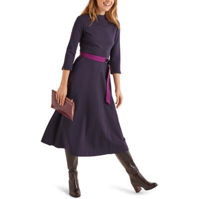 Boden Nerissa Ponte Midi Dress, Blue