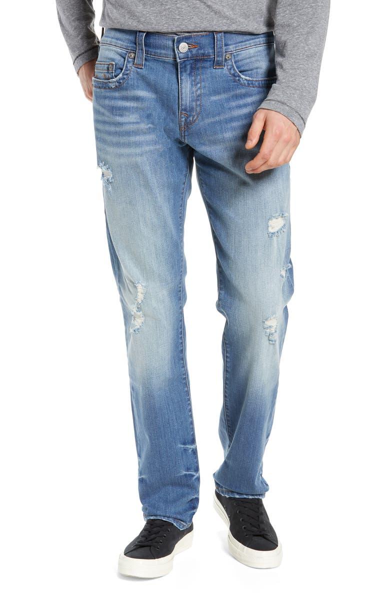 TRUE RELIGION BRAND JEANS Geno Straight Leg Jeans, Main, color, 402