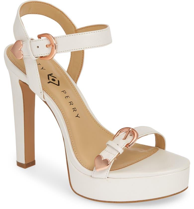 KATY PERRY Noelle Platform Sandal, Main, color, WHITE