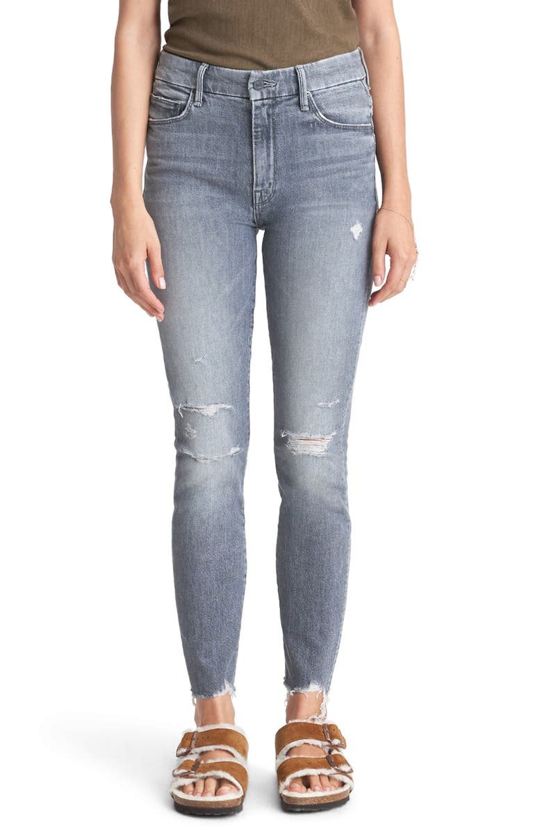 MOTHER The Looker High Waist Nick Fray Ankle Skinny Jeans, Main, color, ACE OF SPADES