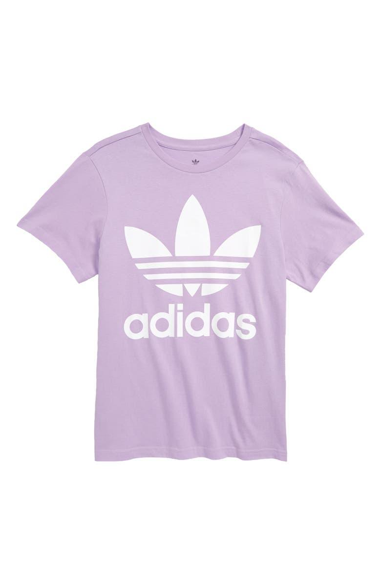 ADIDAS ORIGINALS Trefoil Logo T-Shirt, Main, color, 535