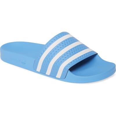 Adidas Adilette Stripe Sport Slide, Blue
