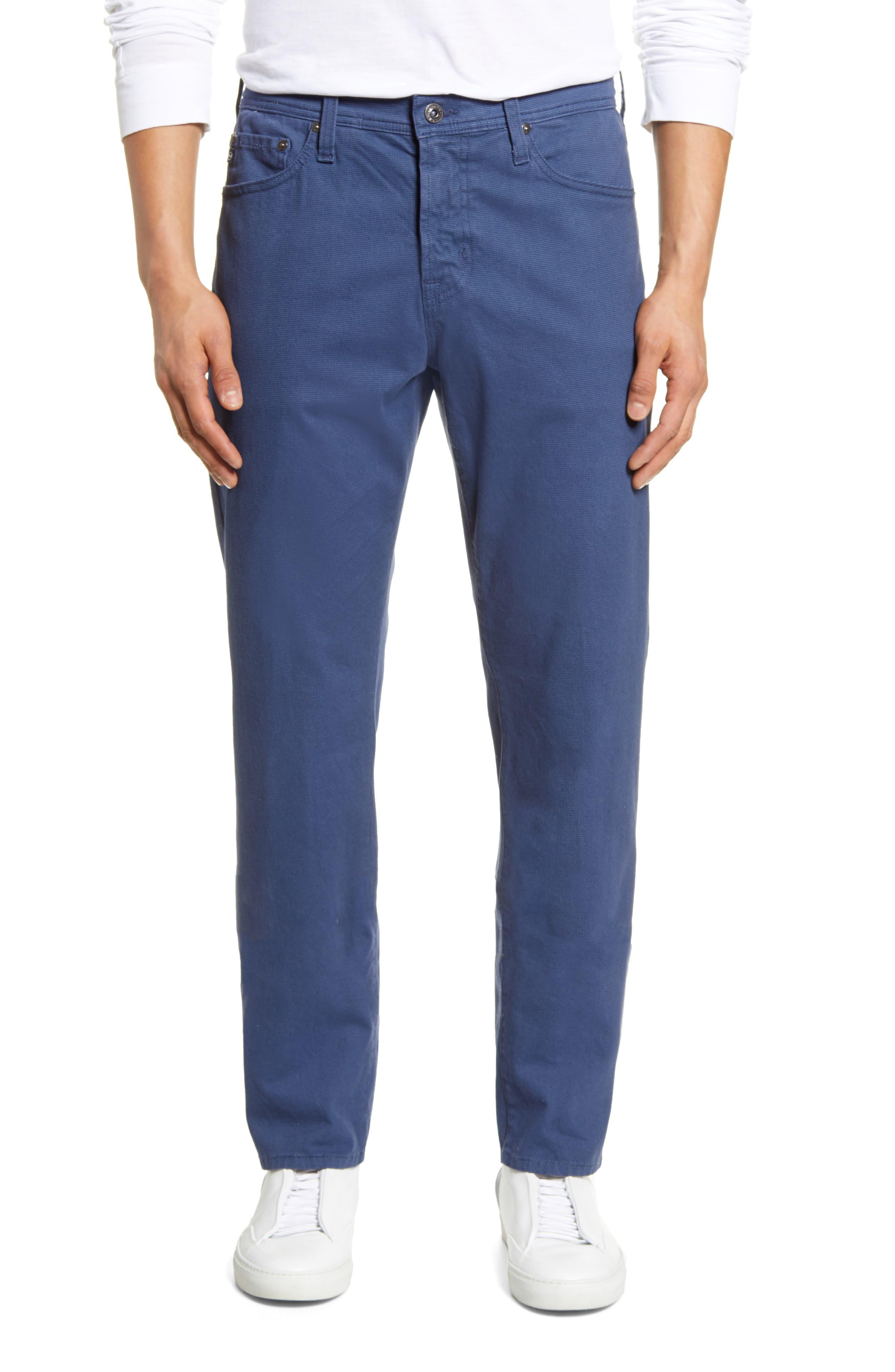 Image of AG Everett SUD Print Slim Straight Pants